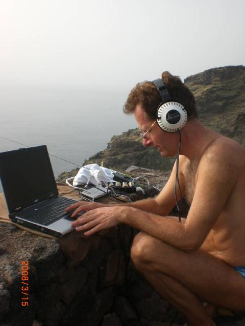 Sferics Recording Analysis at La Palma in 3-2008
